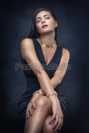 young lady with fashion jewelry