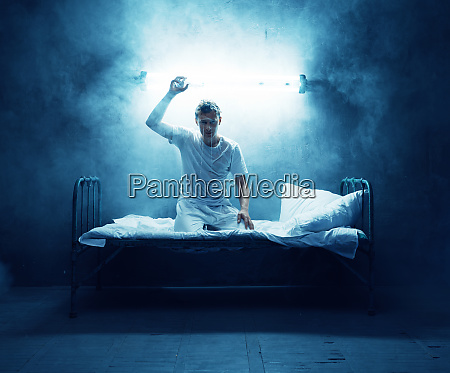 psycho man in bed insomnia disorder