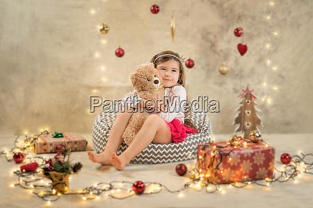 christmas studio shoot of a cute