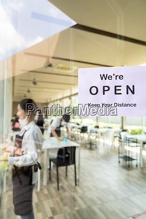 new normal and social distance restaurant