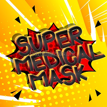 super medical mask comic book style