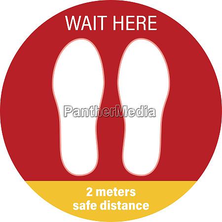 sticker social distance stop spreading coronavirus