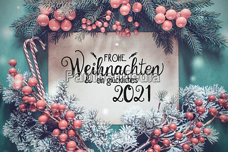 fir tree branch paper glueckliches 2021
