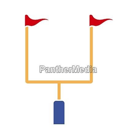 american football goal post icon