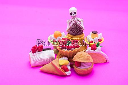 skeleton and bakery enjoy eating until