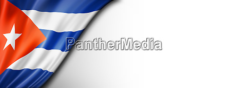 cuban flag isolated on white banner