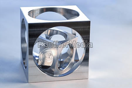 cube in cube workpiece on a
