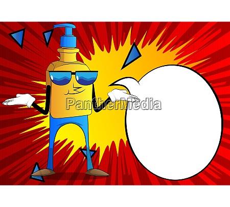 bottle of hand sanitizer gel shrugs