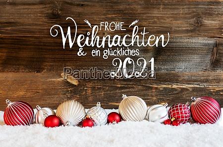 christmas ball ornament snow glueckliches 2021