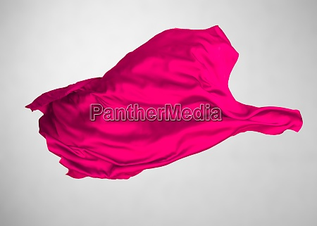 abstract red fabric in motion