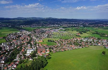 aerial view of settlements near kempten