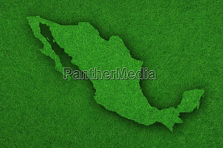 map of mexico on green felt