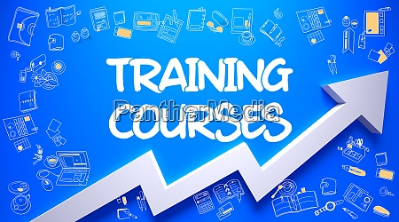 training courses drawn on azure wall