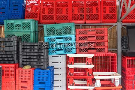 plastic crates variety