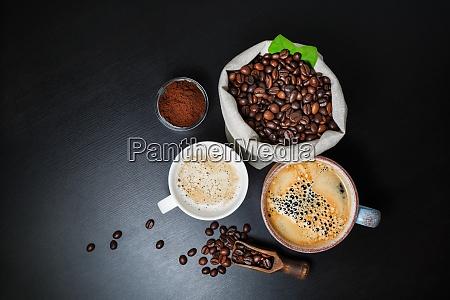 fresh tasty coffee