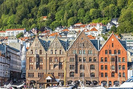 facades of old hanseatic buildings in