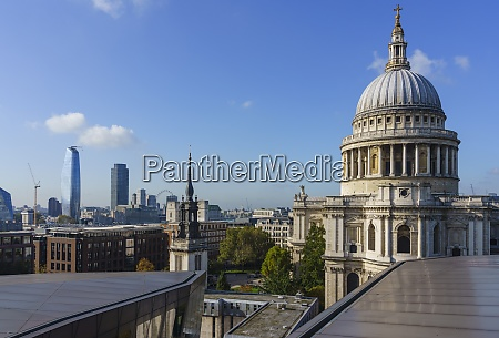 st pauls cathedral and city skyline