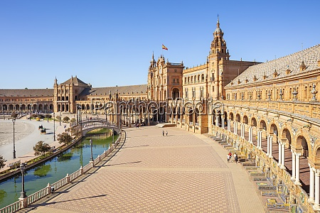 plaza de espana with canal and