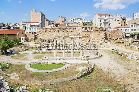 library of hadrian athens greece europe