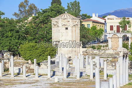 remains of the roman agora and