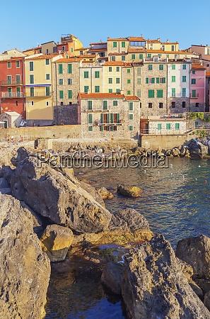 view of tellaro village lerici la