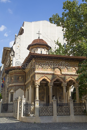 stavropoleos monastery dating from 1724 old