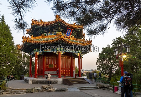 view of the guanmiao pavilion in