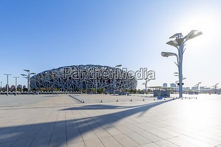 view of the national stadium birds