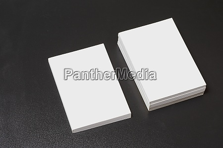 books with blank cover on dark