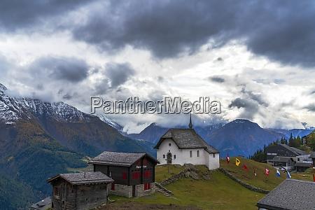 alpine village of bettmeralp canton of