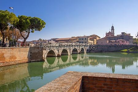 the bridge of tiberius rimini emilia