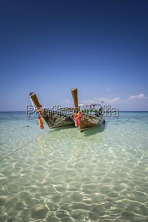 amazing blue water at bamboo beach