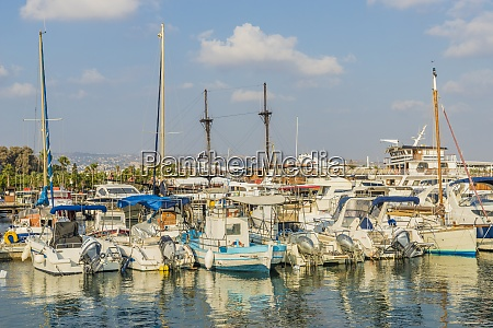 the harbour in paphos cyprus mediterranean