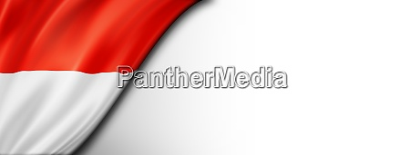 indonesian flag isolated on white banner
