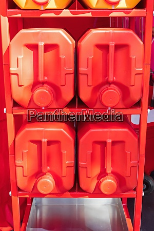 red canisters