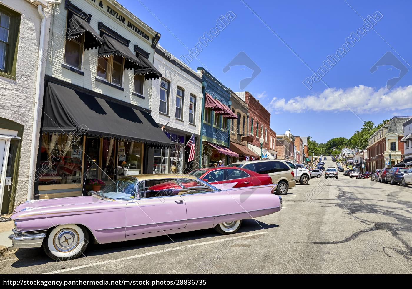 a, pink, 60s, cadillac, in, the - 28836735