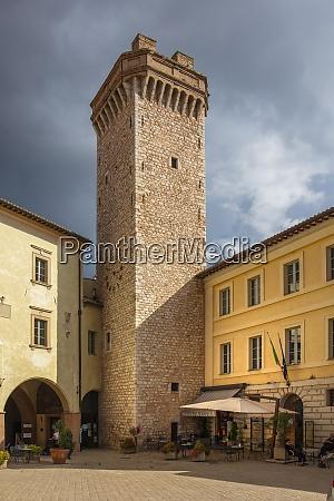 piazza mazzini trevi perugia umbria italy