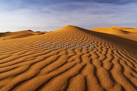 ripples in sand dunes sahara desert
