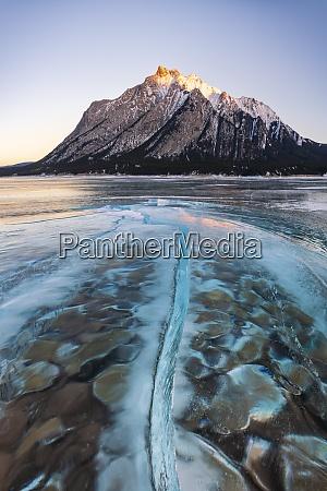 ice formation at lake abraham kootenay