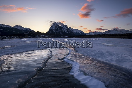 winter at lake abraham at preachers