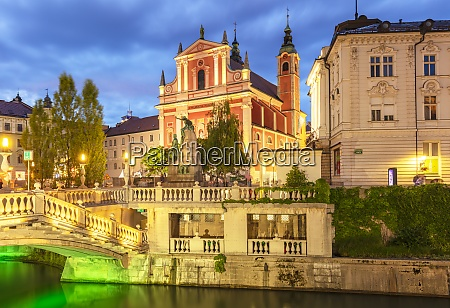 the pink franciscan church and the