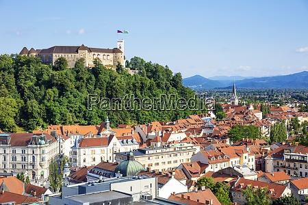 ljubljana skyline with view of the