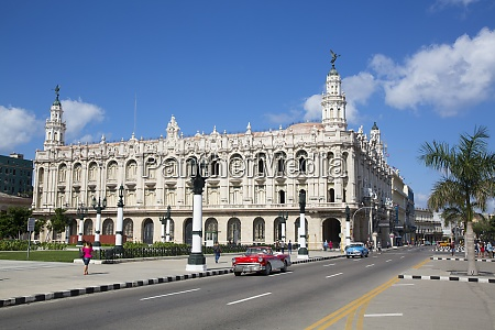 grand theater of havana with old