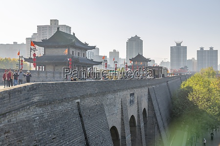 view of the ornate city wall