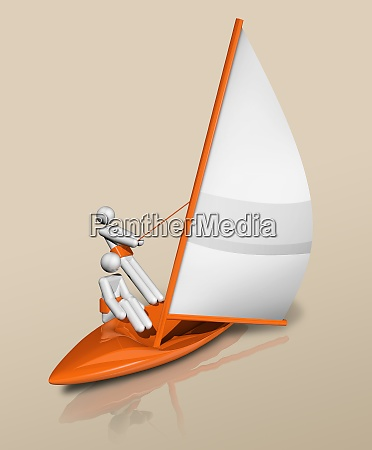 sailing 3d icon olympic sports