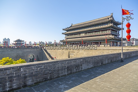 view of the city wall of