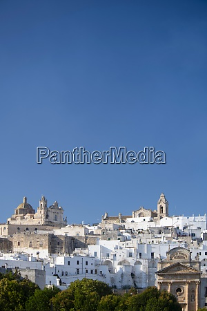 the medieval white city of ostuni
