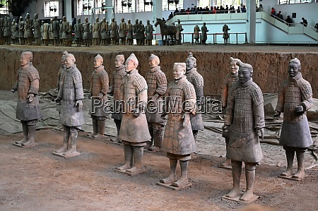 terracotta army funerary sculptures buried in