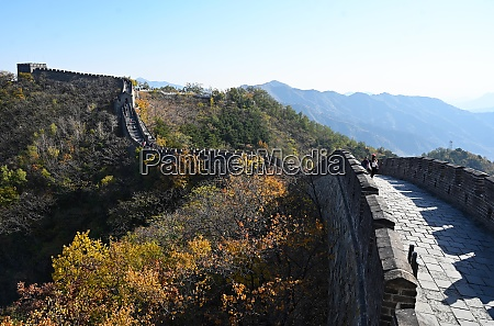 view along the great wall of