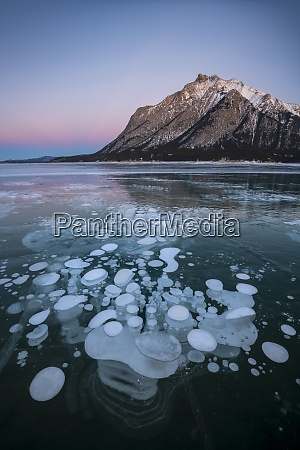 trapped, methane, gas, bubbles, at, lake - 28837179